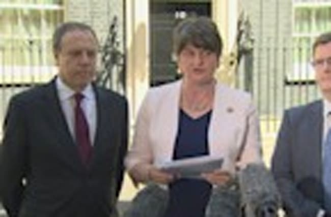 "DUP leader ""delighted"" by Tory-DUP power pact deal"