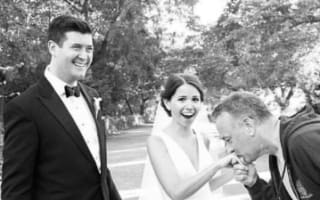 Tom Hanks photobombs couple's wedding pictures