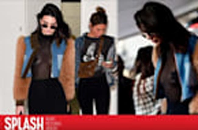 Kendall Jenner's See-Through Look Turns Heads in Paris