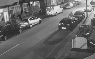 Cyclist crashes head first into a parked car