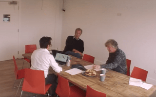 Mock serious video shows former Top Gear trio arguing over name for new show