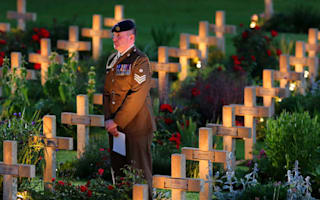 Nation falls silent to honour Somme sacrifice