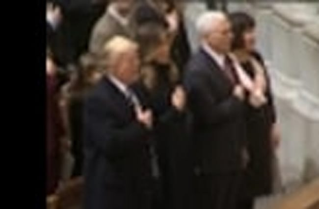 Trump Attends National Cathedral Prayer Service