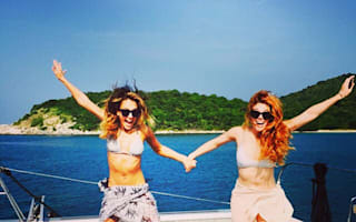 Jessica Alba has fun on a yacht during Thailand trip