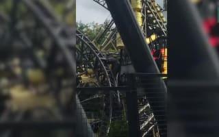 Alton Towers visitors stranded on park's Smiler ride 15 months after crash