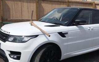 Disgruntled employee smashes pickaxe through bonnet of boss's Range Rover