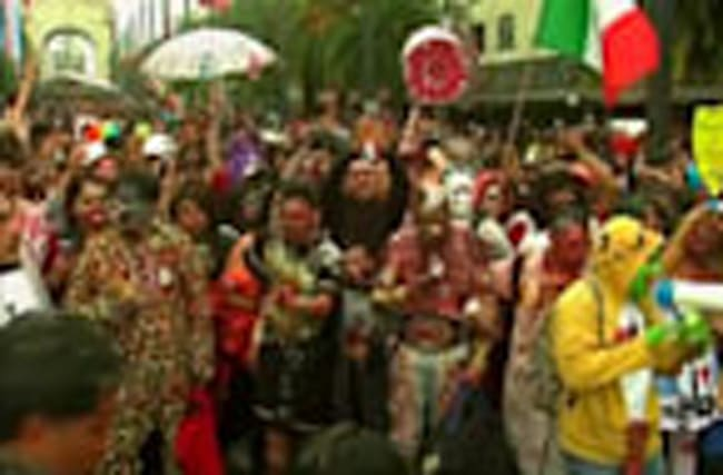 Zombies roam Mexico City for a good cause