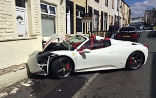 Groom crashes £240,000 Ferrari rented for the big day