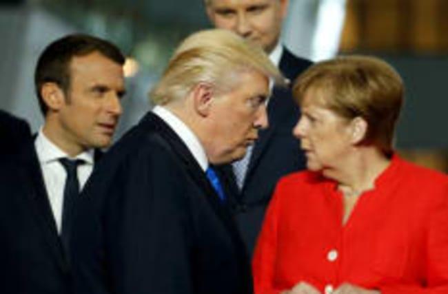 """Macron invite les Etats-Unis à éviter une """"décision précipitée"""""""