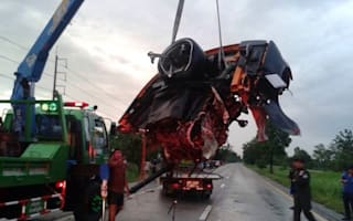 High-speed crash leaves Lamborghini looking like gutted fish