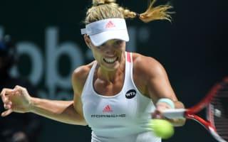 Kerber on brink of Singapore semi-finals