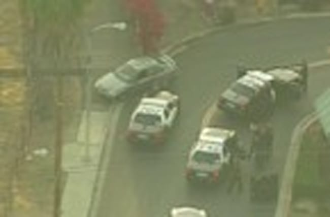 California car chase ends with suspect shot