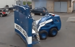Immense riot truck can quash rebellions on sight