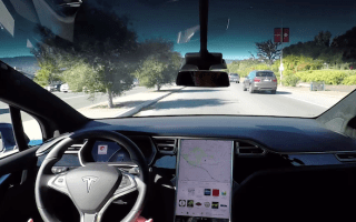 Tesla shares video showing off its self-driving technology