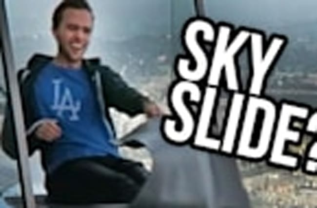 SKY SLIDE DOWNTOWN LOS ANGELES?! (Lunchy Break)