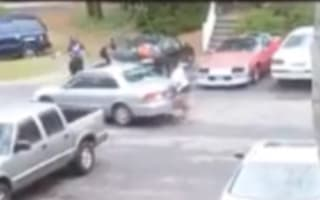 Woman who catches boyfriend cheating is run over by mistress