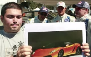 Racers guess the car from man's vocal imitation