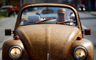 You must be oak-ing! Man covers VW Beetle in wood