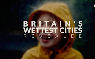 Britain's wettest cities revealed
