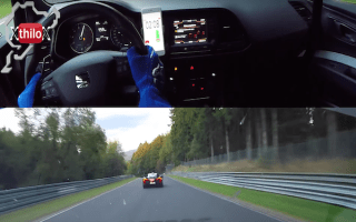 Watch a McLaren P1, Seat Leon Cupra and Yamaha R6 duke it out on the Nürburgring
