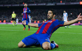 Barcelona 4 Espanyol 1: Suarez double and Messi magic sends champions second
