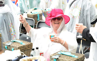 How very British: Picnics in the rain for Queen's birthday