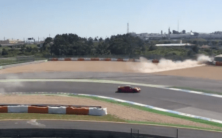Ferrari destroyed in huge accident after brakes fail