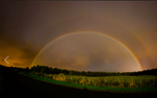 Rare moonbow photographed over Yorkshire