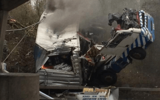 Truck driver dies after horrific crash on A12