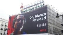 Un cartel de Netflix felicitando la Navidad causa revuelo en Madrid