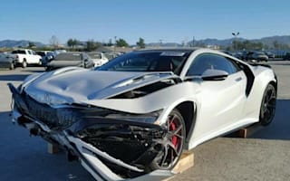 Wrecked Acura NSX up for auction in US
