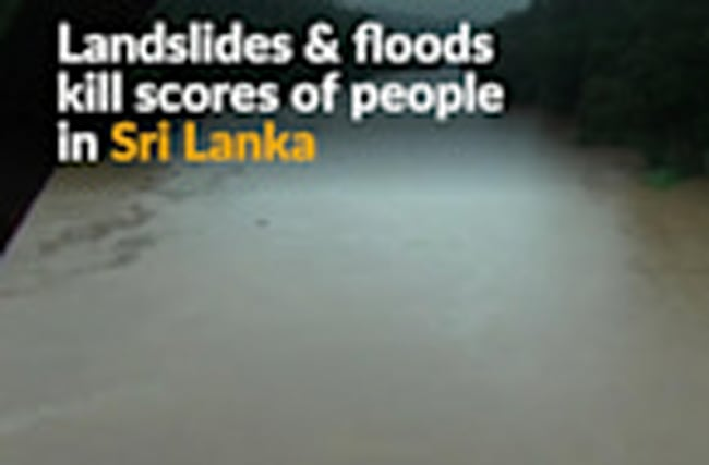 Scores killed in Sri Lanka landslides and floods