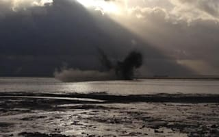 World War II bombs wash up on Essex beach
