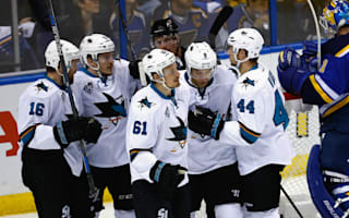 Sharks shutout seals game two against Blues