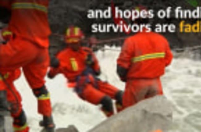 China villagers mourn dead after landslide
