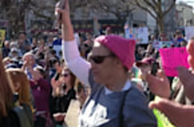 Protesters in D.C. say Trump is 'not my president'