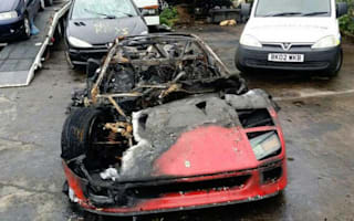 Check out these photos of a destroyed Ferrari F40 and try not to cry