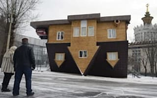 What's wrong with this picture? Inside the upside down house