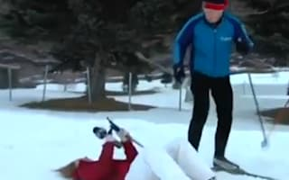 Reporter faints in the snow on live TV and wakes up to finish skiing interview