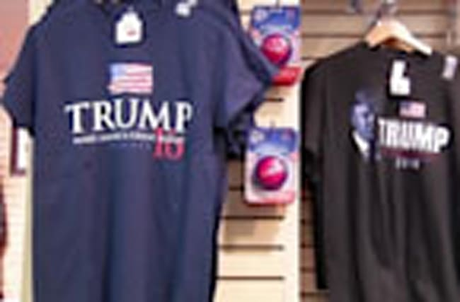 Trump, Clinton souvenirs fly off store shelves