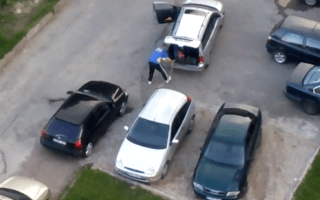 Man resorts to extreme measures in search of parking space