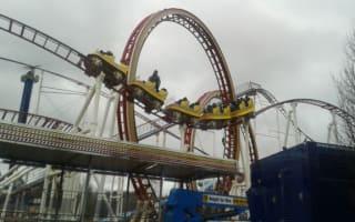 Firefighters rescue eight people stuck on broken rollercoaster