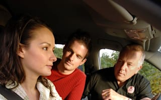 One in three men frightened of their partner's driving