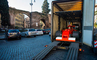 Lego cars take to the streets of Rome – sort of!