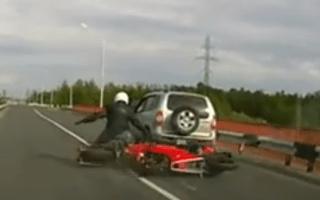 Cops scare speeding bikers into crash