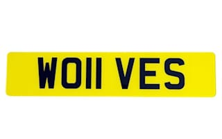 Football fans rejoice as registration WO11 VES goes up for sale