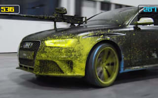 Audi RS4 Avant goes paintballing