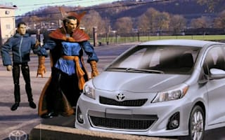 Video: The Hulk takes a road trip in a Toyota Yaris