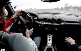 Kimi Raikkonen tames the Ferrari F12