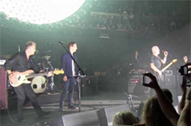 Benedict Cumberbatch joins David Gilmour on stage at Albert Hall